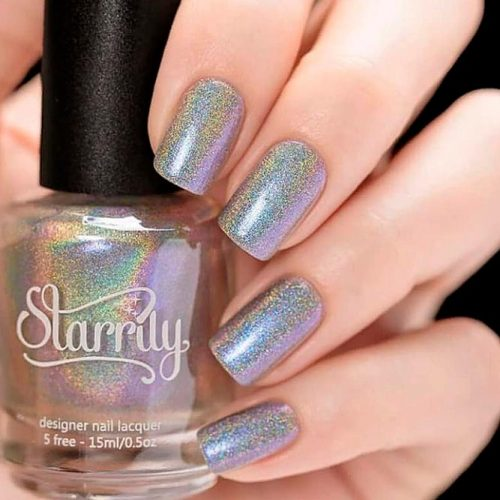 Pulsar From The Starrily Holodescent Collection #holonails #shortnails