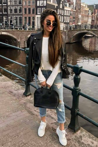 Casual Outfit With Classy Boyfriend Jeans #casualstyle #boyfriendjeans