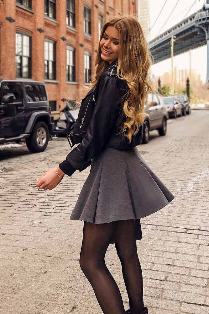 Cute Outfit With A Skirt For A Classy Look #skirt