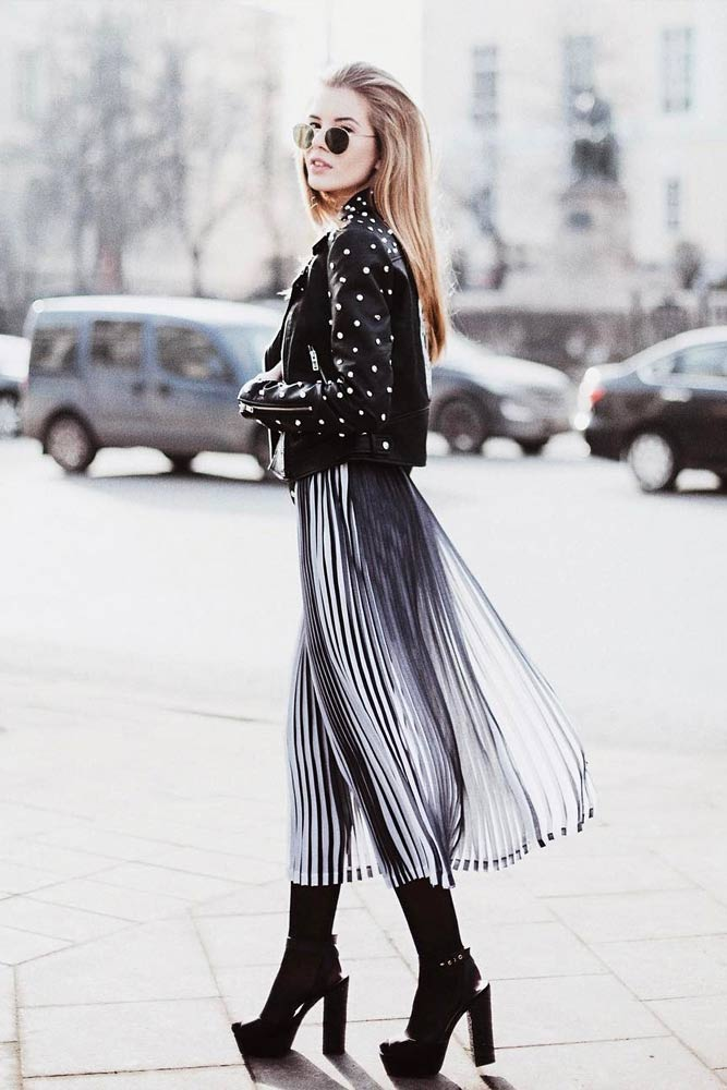 Rock A Long Dress And High Heels With A Jacket #longskirt
