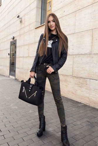Trendy Military Jeans For A Casual Style #militaryjeans