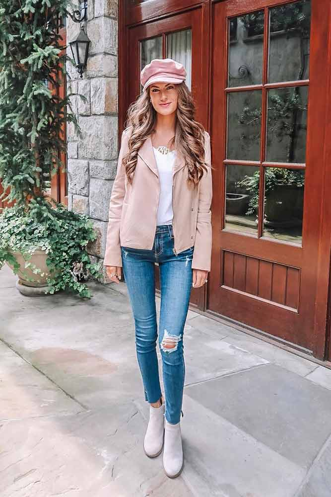 A Cute Pastel Color Leather Jacket #peachjacket #pasteljacket