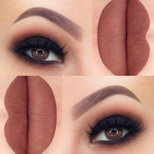 Brown Lipstick For Brown Eyes Color #smokeyeyes