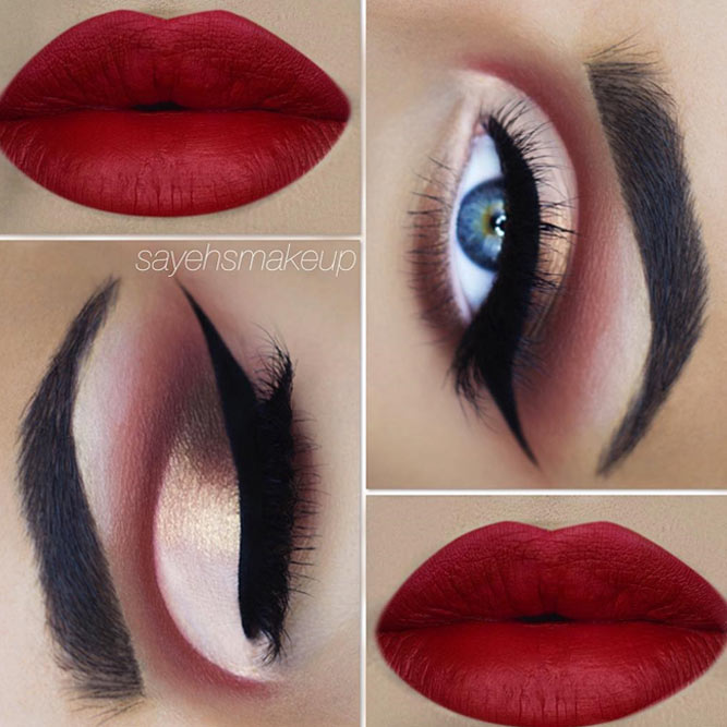 Classic Red Lipstick Shade For Blue Eyes #redlipstick #blueeyes