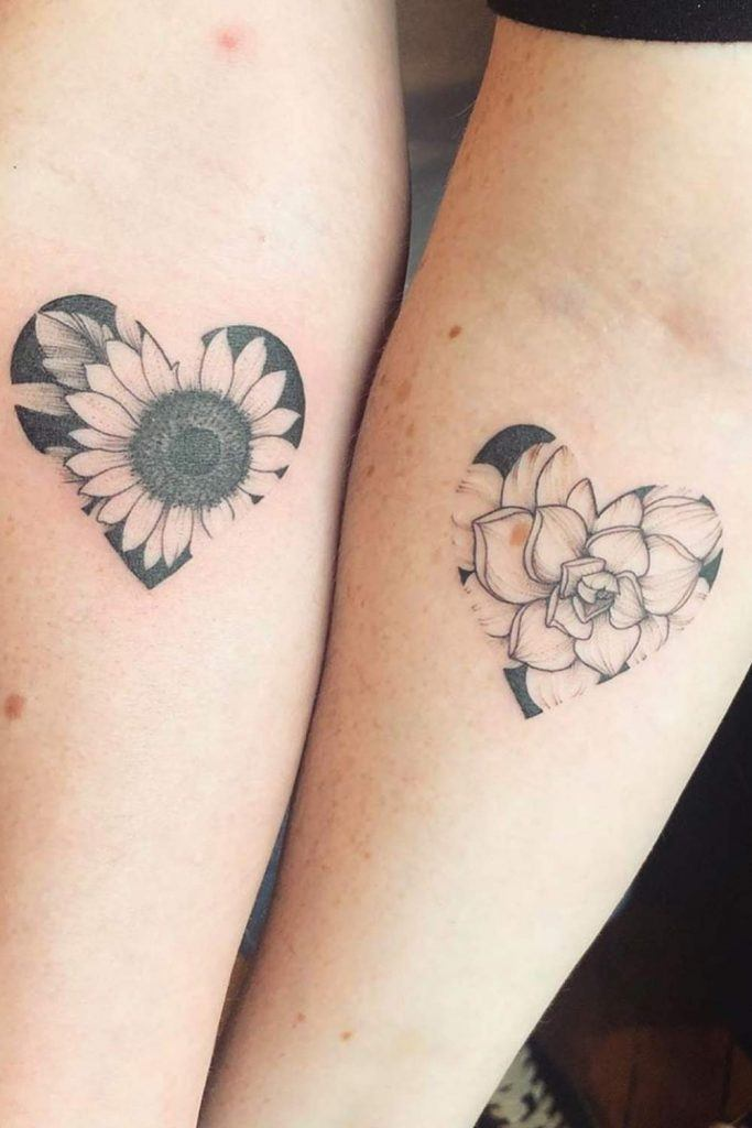 Heart Tattoos For Sisters