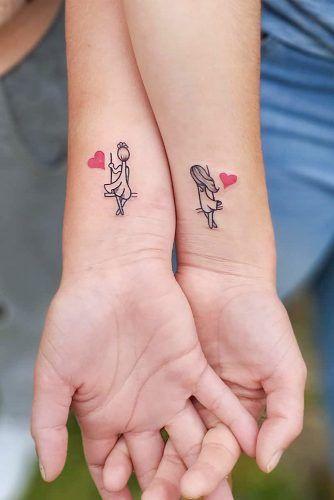 Sister Tattoo On Wrist With Girls #wristtattoo