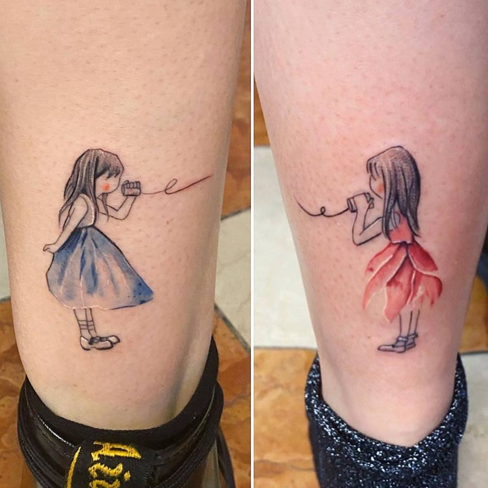 Sister Tatttoos With Little Girls