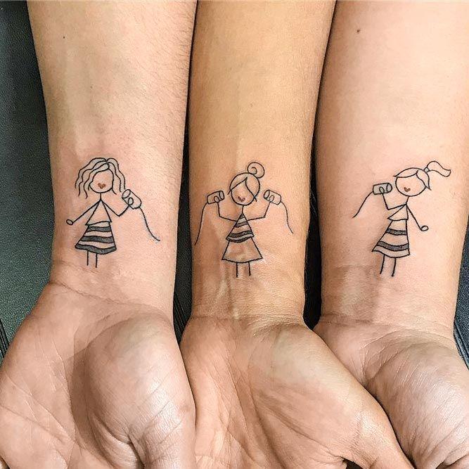 Sister Tattoo Idea For 3 #wristtattoo