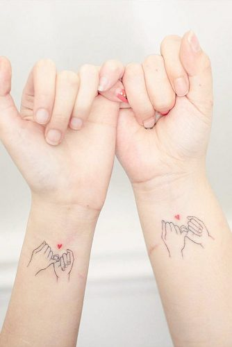 Cute Tattoo Idea For Sisters #wristtattoo