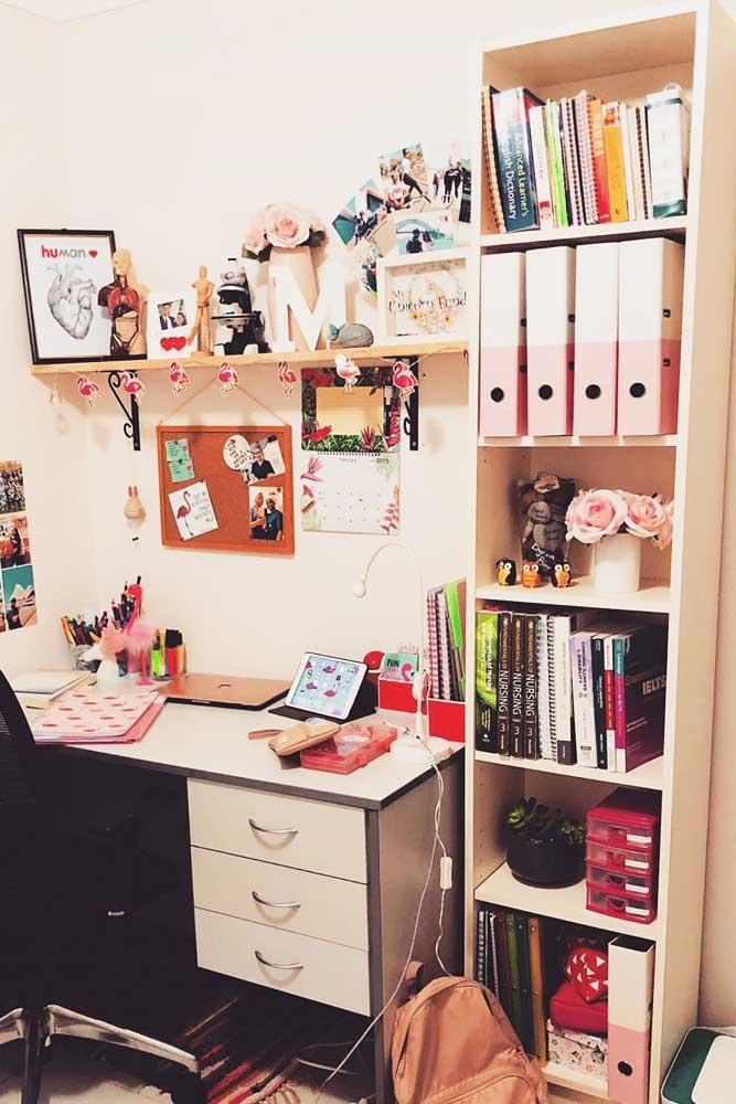 Study Space With Book Storage #bookstorage