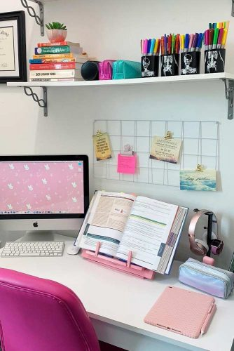 Study Desk Organization Idea #bulletinboard #stationaryorganization