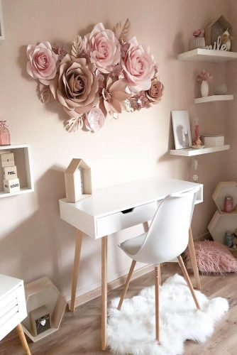 Study Room Set Up In The Living Area In Pastel Color Theme #pastelcolor #girlroom