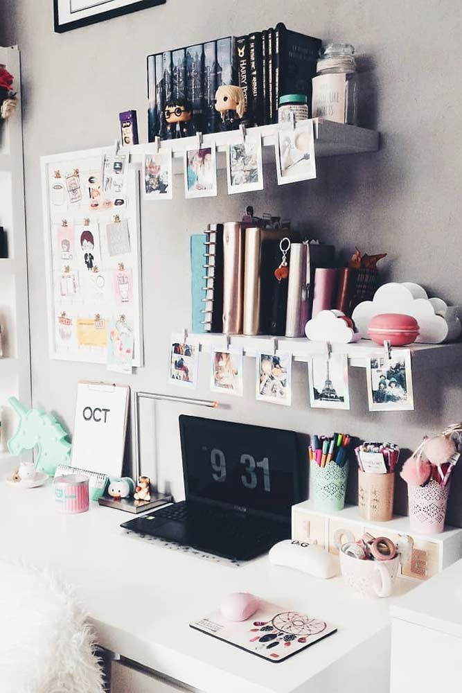Shelves Designs To Organize Your Study Place #plasticorganizers #studyorganizers