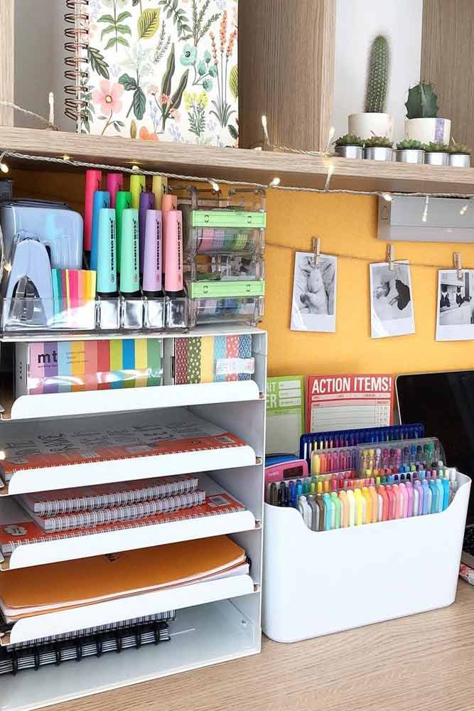 Plastic Organizers For Your Stationary #notebookorganizer #stationaryorganizer