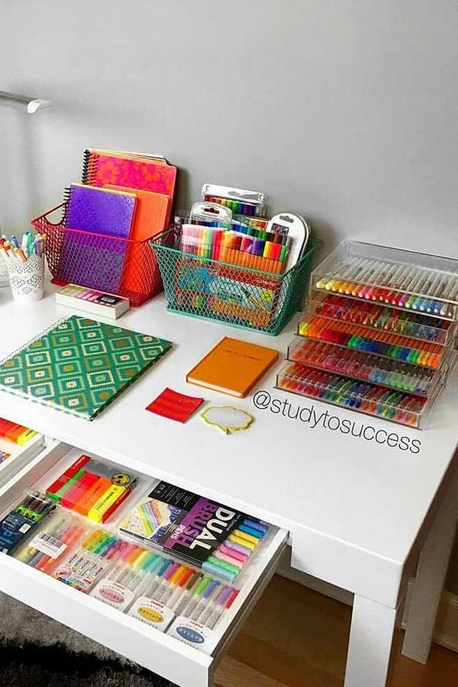 Top Desk Organization #deskorganization #stationaryorganization