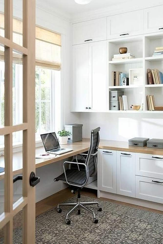 Modern Study Room In White Color #modernstudyroom #whitecolor
