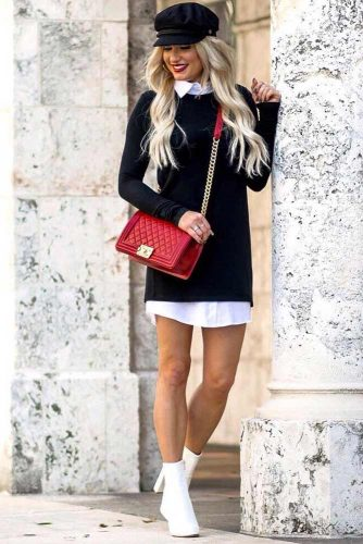 A Classic Sweater Dress For Work #classicworkdress