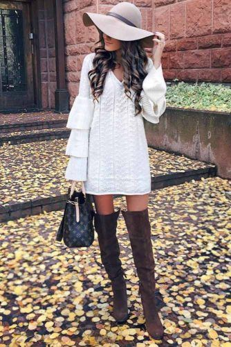 White Ruffled Dress Design #ruffledsleeves