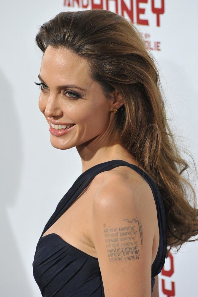 Angelina Jolie With Tattoo #celebrity #angelinajolie