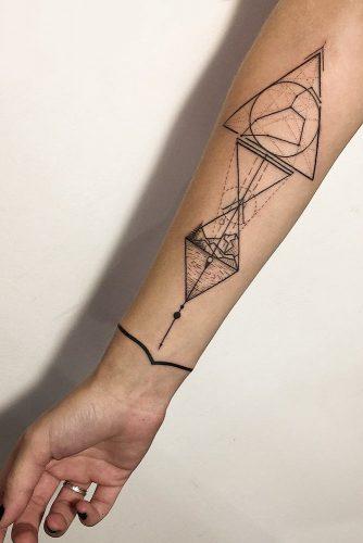 Geometric Style Tattoo #geometrictattoo #armtattoo
