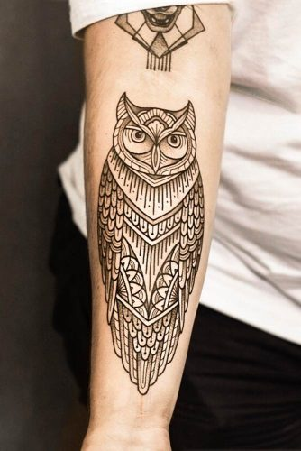 Ornamental Tattoo Style #ornamentaltattoo #owltattoo