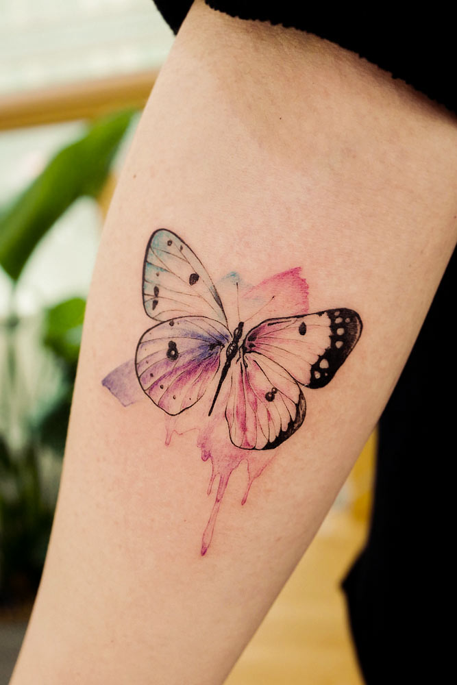 Butterfly Tattoo Idea For Afrm #butterflytattoo