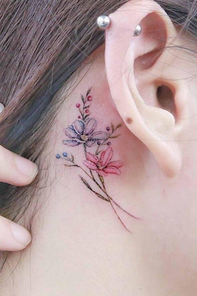 Hidden Flowers Tattoo