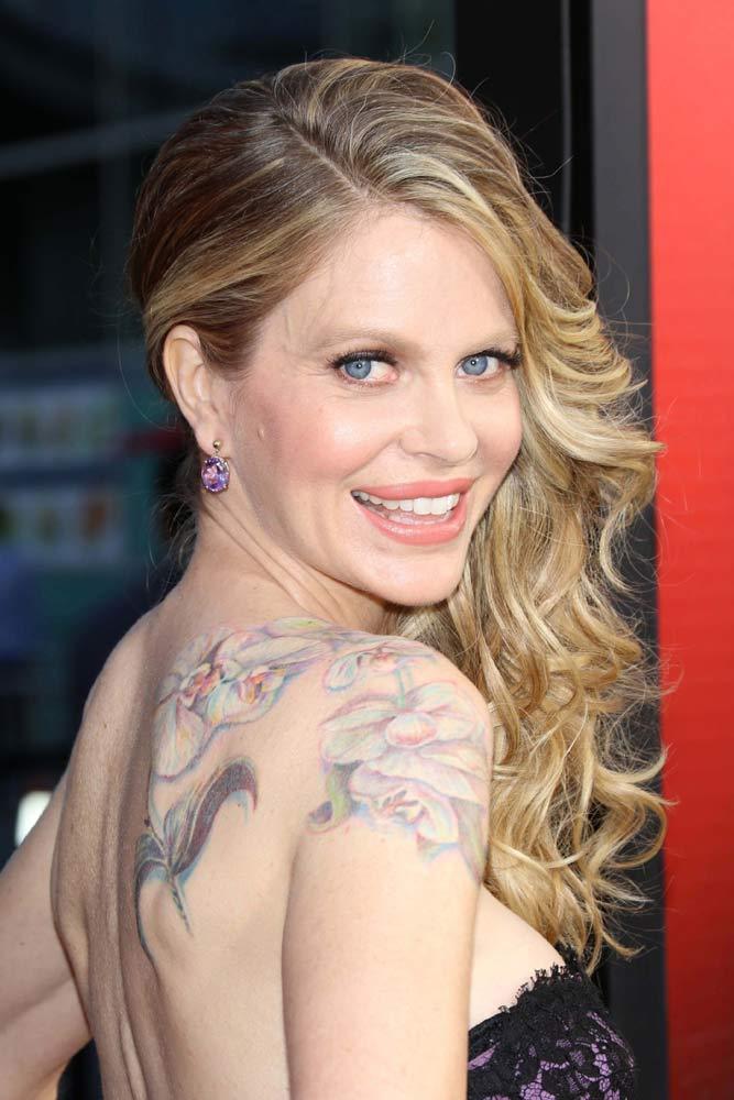 Kristin Bauer #celebrity #celebritytattoo #kristinbauer