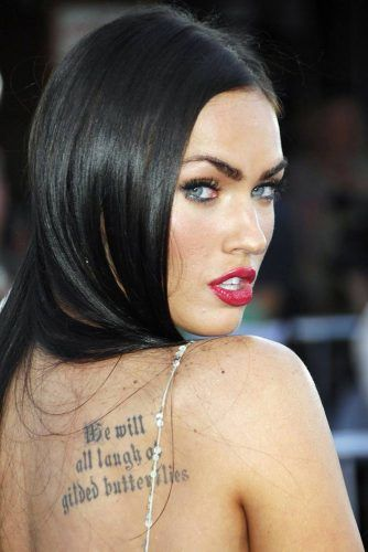 Megan Fox #celebrity #celebritytattoo #meganfox