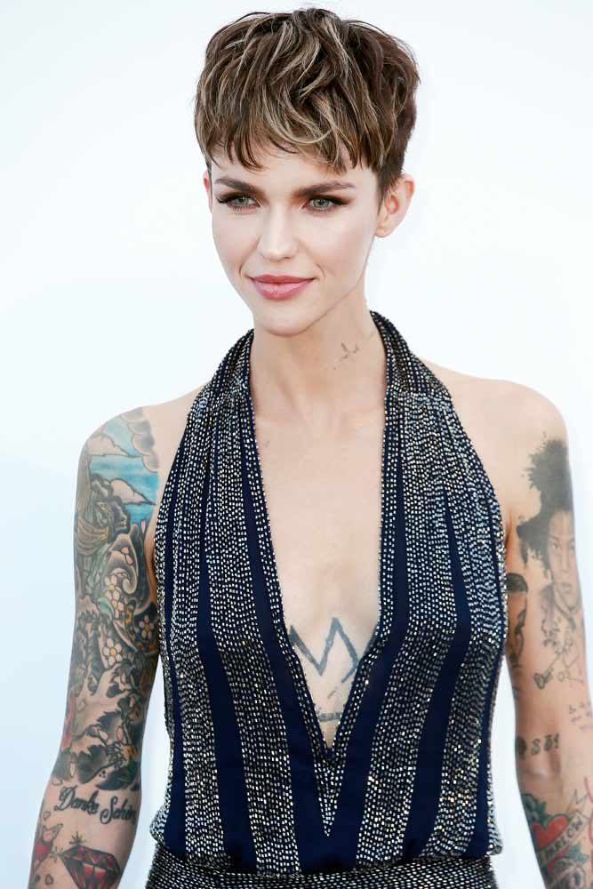 Ruby Rose #celebrity #celebritytattoo #rubyrose