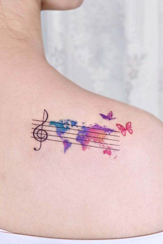 Musical Themed Tattoo