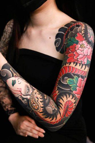 Japanese Tattoo Style #japanesetattoo #fullsleevetattoo