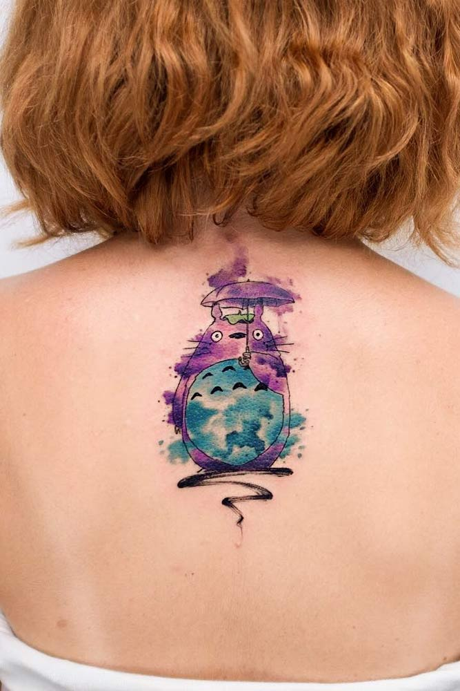 Watercolor Tattoo Style #watercolortattoo #totorotattoo #animetattoo