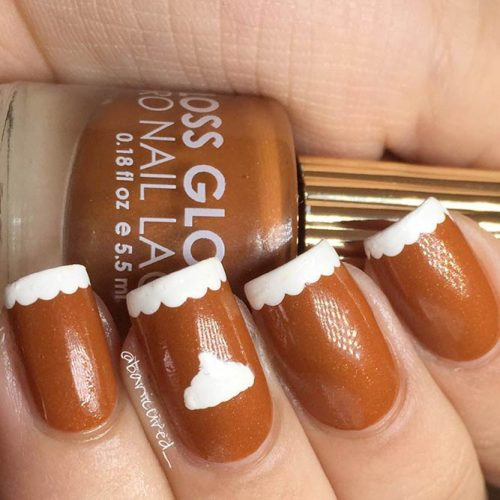 Pumpkin Pie Nails #fallnails #frenchnails #easynailart