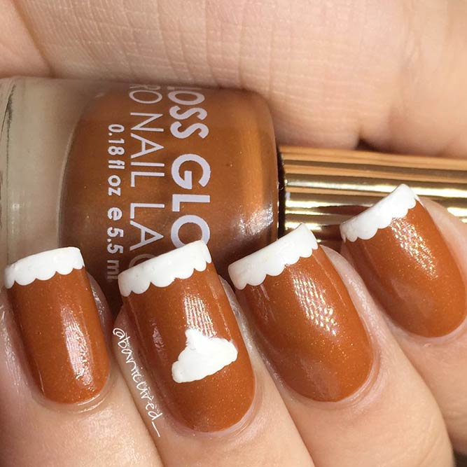 Pumpkin Pie Nails #fallnails #frenchnails #easynailart