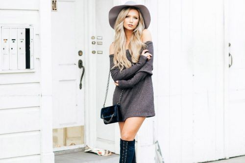 27 Inspiring Ideas How To Rock A Sweater Dress On Daily Basis
