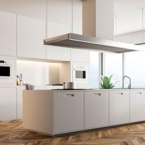 Stylish Kitchen With Hidden Handles #homedecor #stylishhome #contemporarykitchen