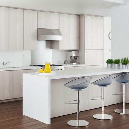 Glossy Finish Cabinets #homedecor #stylishhome #contemporarykitchen