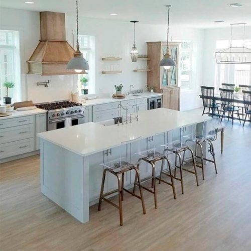 Modern Farmhouse Kitchen #homedecor #stylishhome #modernkitchen