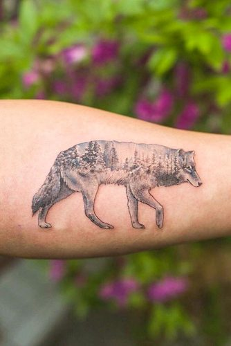 Wolf Tattoo Design With Deep Wild Soul Meaning #armtattoo