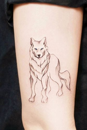 Simple Wolf Tattoo #simpletattoo