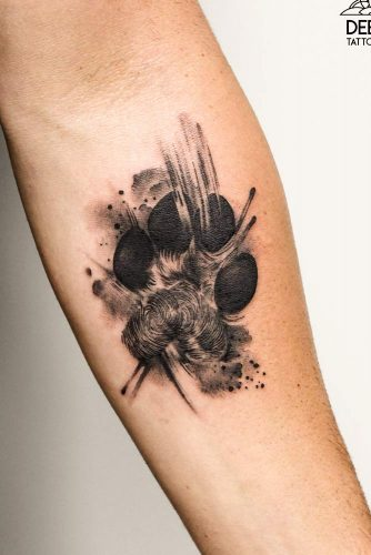 Wolf Paw Tattoo Idea #pawtattoo