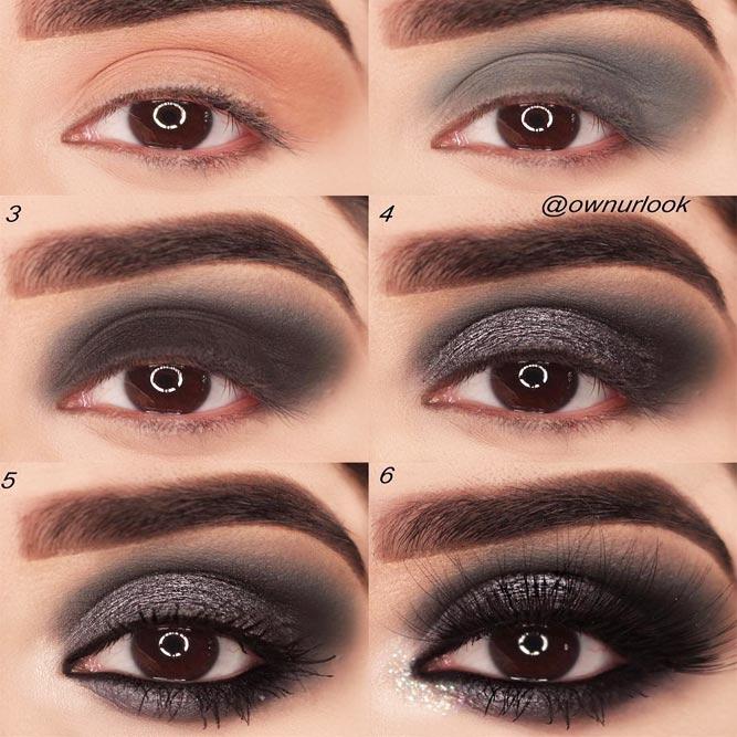 Smokey Eye Tutorial For Grunge Makeup #eyesmakeup #makeuptutorial