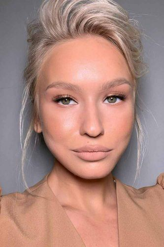 Nude Makeup With Matte Lipstick #nudemakeup