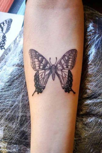 Buttefly Tattoo With Dotwork Technique #dotwork