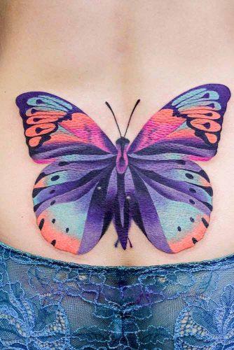 Lower Back Butterfly Tattoo #lowerbacktattoo
