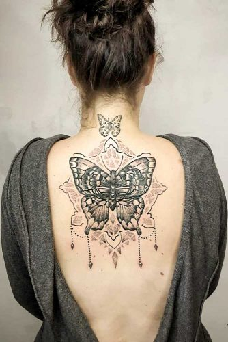 Butterfly Tattoo Design For Back #backtattoo