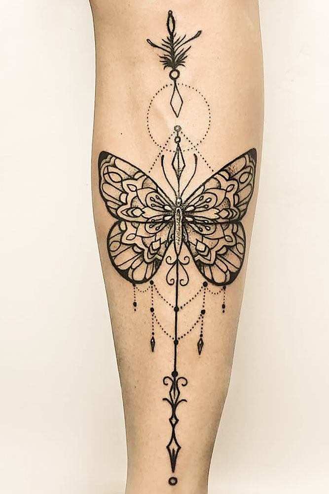 Mandala Butterfly Tattoo #mandalatattoo