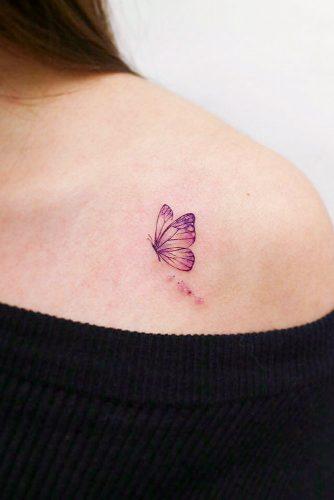 Butterfly Tattoos On Shoulder #shouldertattoo