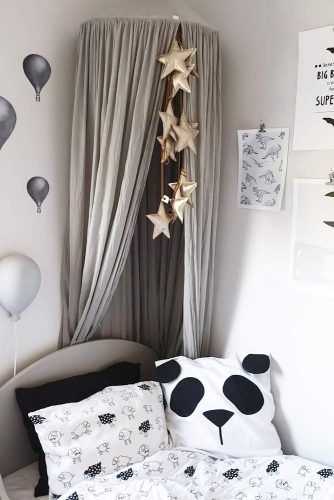 Canopy Bedroom Design In Gray Colors #graycanopy